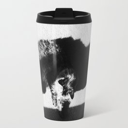 Aesthetic Black And White Cat Travel Mug