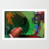 football Art Prints featuring Football by Robin Curtiss