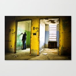 Between Two Walls. Canvas Print