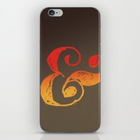 ampersand iPhone & iPod Skins featuring Ampersand by TheCore
