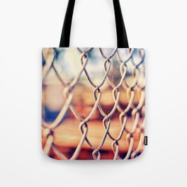Fence Bokeh Tote Bag