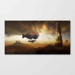Endless Journey - steampunk artwork Canvas Print