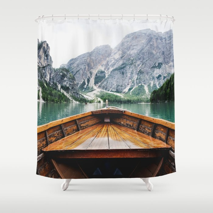 Wanderlust Taking The Sustainable Route Shower Curtain By Ncherna