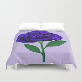 Bloomin' Violet on Lilac Duvet Cover