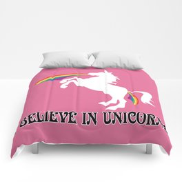 Unicorns - I believe in Unicorns! The outlined version Comforters