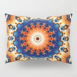 Geometric Orange And Blue Symmetry Pillow Sham