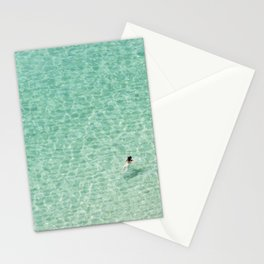 Naked swimming in Paradise Stationery Cards