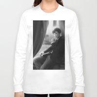 sherlock holmes Long Sleeve T-shirts featuring Sherlock Holmes by franzkatter