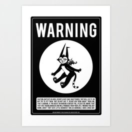 Warning: Batcats! Art Print