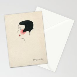 Demoiselle rougissante Stationery Cards