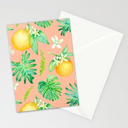 Citrus Tropics - Pink Stationery Cards