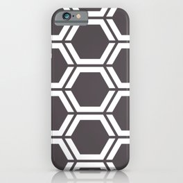 Dark liver - violet - Geometric Polygon Pattern iPhone Case