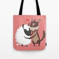 lamb Tote Bags featuring Lamb by Alfonso Cervantes