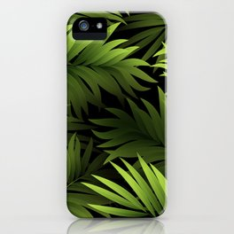 Tropical Frond Pattern iPhone Case