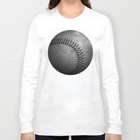 baseball Long Sleeve T-shirts featuring Baseball by Christy Leigh