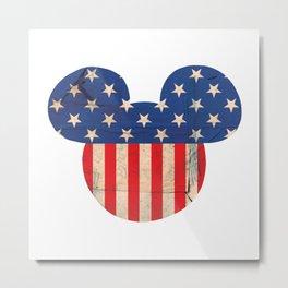 M Mouse USA Metal Print