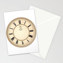 Classy Vintage Birdcage Decorative Clock Stationery Cards