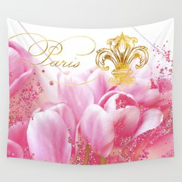 Wedding in Paris Wall Tapestry