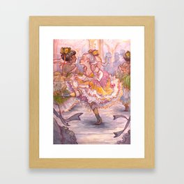 Brightly Colored Petticoats and Frills Framed Art Print