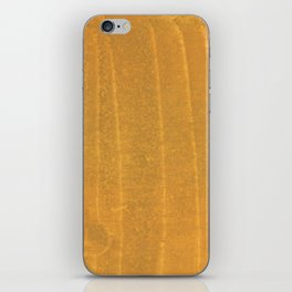 Dark yellow blurred watercolor pattern iPhone Skin
