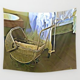 Once Upon a Time - Pram in the Nursery Wall Tapestry