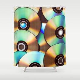 CD Pattern Shower Curtain
