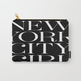 Black NYC Girl Carry-All Pouch