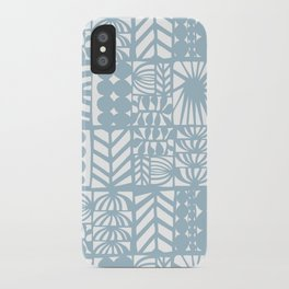 light blue patchwork iPhone Case