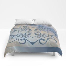 Shalom Mandala - Blue Beige Comforters