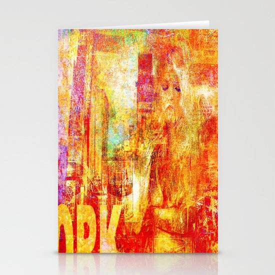 Girl in New-York  Stationery Cards