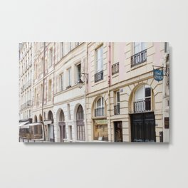 Left Bank Pink on Rue Saint-Jacques Metal Print