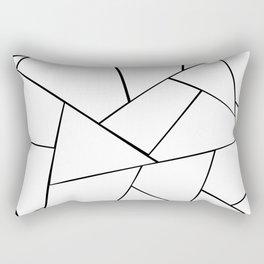 Black White Geometric Glam #1 #geo #decor #art #society6 Rectangular Pillow