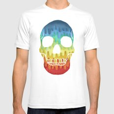 Paper Skull White Mens Fitted Tee MEDIUM