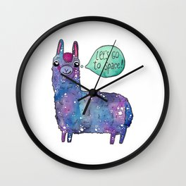 Cosmic lama Wall Clock