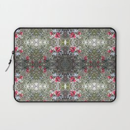 Very Berry Holly Christmas Multi Fractal from Photo 805 Laptop Sleeve