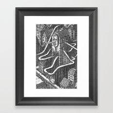 The Roller Coaster City Framed Art Print