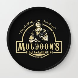 Muldoon's Big Game Hunting (Jurassic Park) Wall Clock