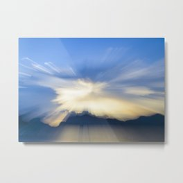 Evanescent 4 (Blue and Gold) Metal Print