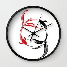 Koi Yin & Yang Wall Clock