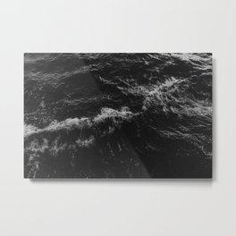 Dark Ocean in Black and. White Metal Print