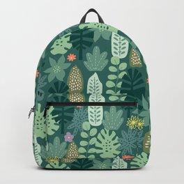 Mid Century Inspired Garden Of Greenery Backpack