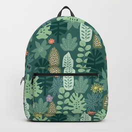 Mid Century Inspired Garden Of Greenery Backpack