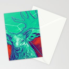 Stag Dimension of Teal Stationery Cards
