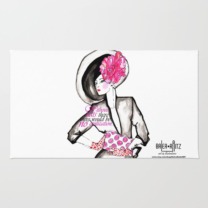 Melbourne Cup Fashion Rug by Balearaitzart RUG772159