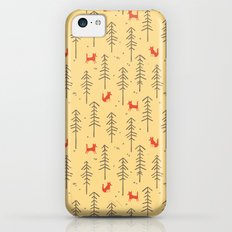 Fox hiding in the forest iPhone 5c Slim Case
