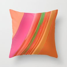 Peach Apricot Mango Bold Stripes Throw Pillow