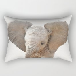 Baby Elephant, Baby Animals Art Prints by Synplus Rectangular Pillow