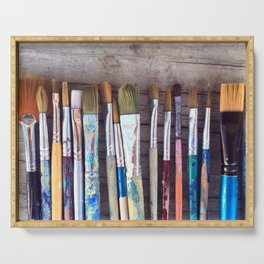 love me some paintbrushes Serving Tray