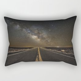 Go Beyond - Road Leads Into Milky Way Galaxy Rectangular Pillow