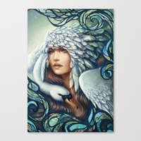 swan Canvas Prints featuring Swan by Bea González